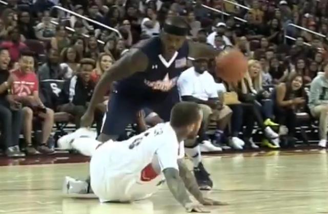 Mac Miller Gets Crossed & Falls During Celebrity Basketball Game (VIDEO)