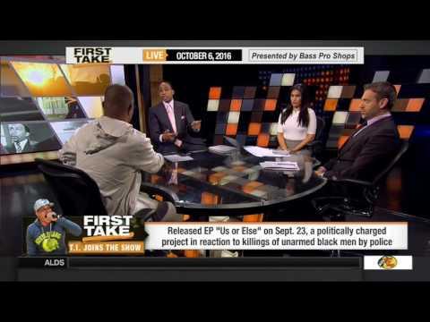 "T.I. Talks ""Us Or Else,"" Colin Kaepernick & More On ESPN's 'First Take' (VIDEO)"