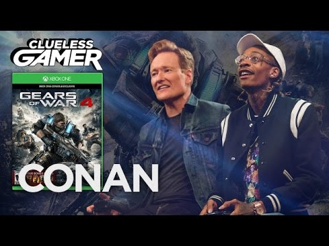 Wiz Khalifa & Conan O'Brien Smoke A Joint & Play 'Gears of War 4' (VIDEO)