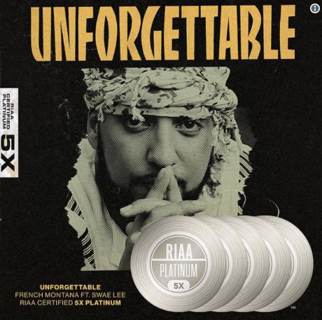 """French Montana """"Unforgettable"""" Goes 5x Platinum"""