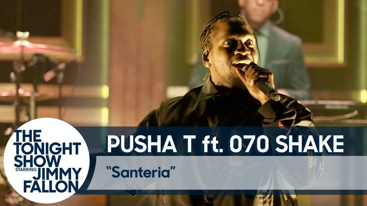 "Pusha T & 070 Shake Perform ""Santeria"" Live On 'The Tonight Show'"