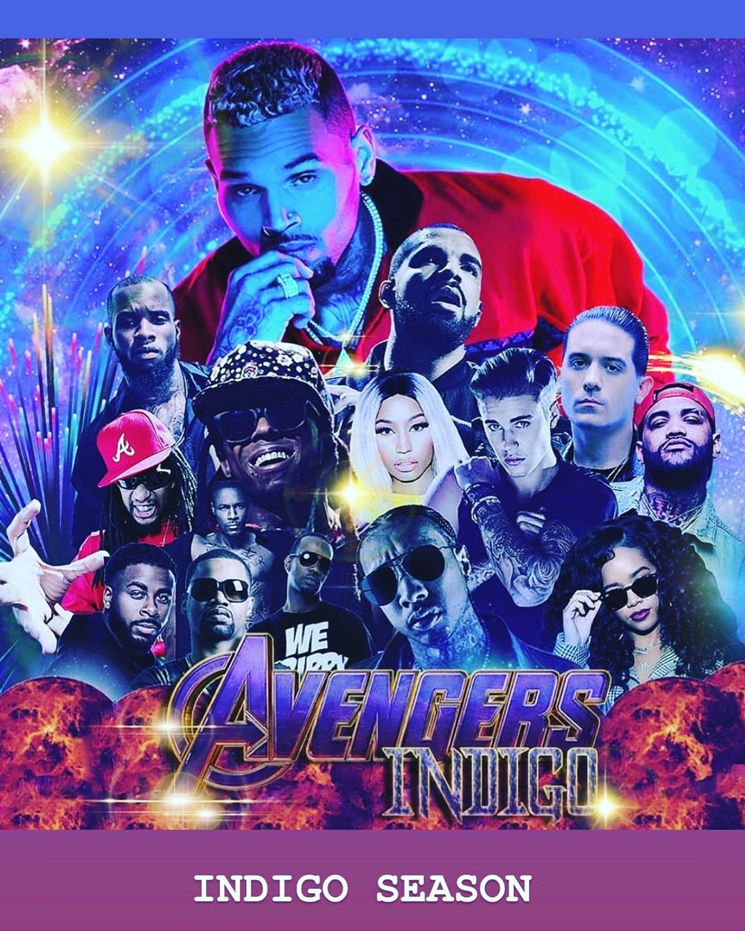 "Chris Brown Heat Feat Gunna: Chris Brown Reveals ""Indigo"" Album Cover"